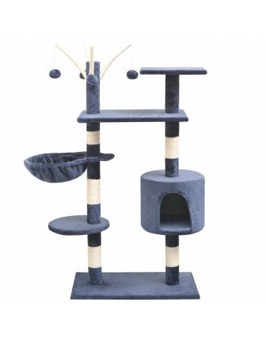 Kačių draskyklė su stovais iš sizalio, 125cm, tamsiai mėlyna | Draskyklės katėms | duodu.lt