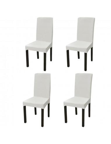 Tamprūs ir tiesūs užvalkalai kėdėms, 4 vnt., Kreminės spalvos   Baldų Užvalkalai   duodu.lt