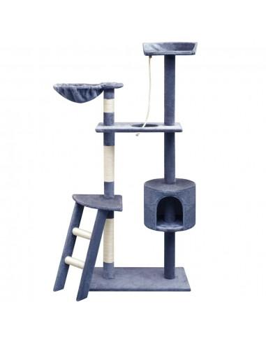 Kačių draskyklė su stovais iš sizalio, 150 cm, tamsiai mėlyna   Draskyklės katėms   duodu.lt