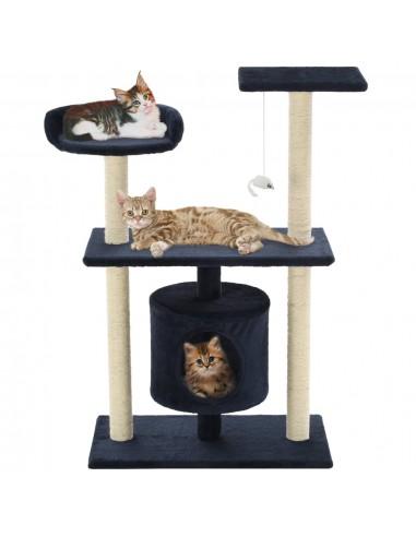Kačių draskyklė su stovais iš sizalio, 95cm, tamsiai mėlyna | Draskyklės katėms | duodu.lt