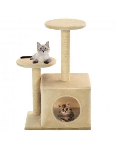 Draskyklė katėms su stovais iš sizalio, 60cm, smėlio spalvos    Draskyklės katėms   duodu.lt