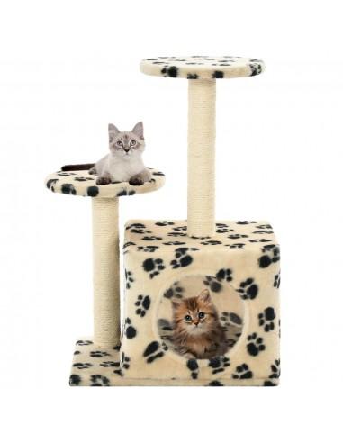 Draskyklė katėms su stovais iš sizalio, 60cm, smėlio sp. pėd.    Draskyklės katėms   duodu.lt