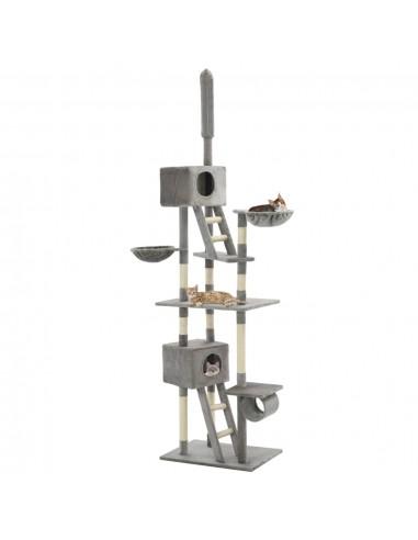 Draskyklė katėms su stovu iš sizalio, 230-260cm, pilka | Draskyklės katėms | duodu.lt