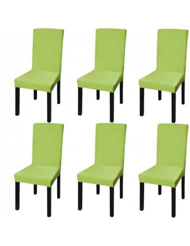 Tamprūs ir tiesūs užvalkalai kėdėms, 6 vnt., Žalios spalvos | Baldų Užvalkalai | duodu.lt