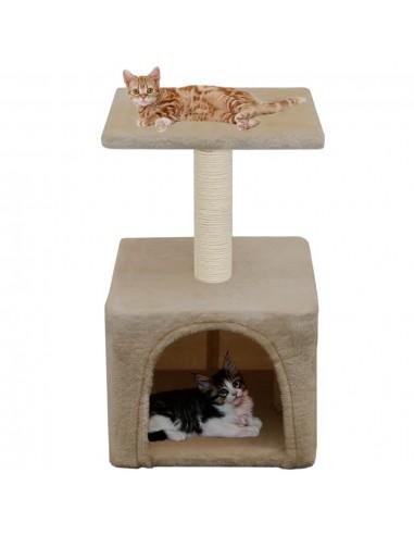 Draskyklė katėms su stovu iš sizalio, 55 cm, smėlio spalvos  | Draskyklės katėms | duodu.lt
