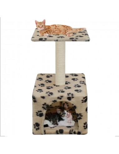 Draskyklė katėms su stovu iš sizalio, 55 cm, smėlio sp. pėdut.  | Draskyklės katėms | duodu.lt