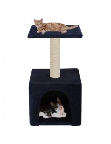 Draskyklė katėms su stovu iš sizalio, 55 cm, tamsiai mėlyna   Draskyklės katėms   duodu.lt