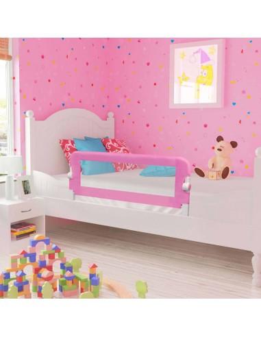 Apsauginis turėklas vaiko lovai, rož. sp., 120x42cm, poliest.   Apsauginiai turėklai kūdikiams   duodu.lt
