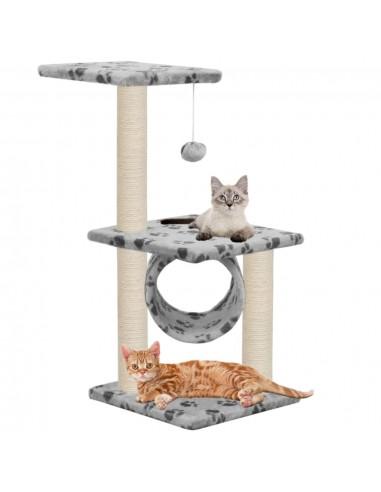 Draskyklė katėms su stovais iš sizalio, 65cm, pilkos sp. pėdut. | Draskyklės katėms | duodu.lt