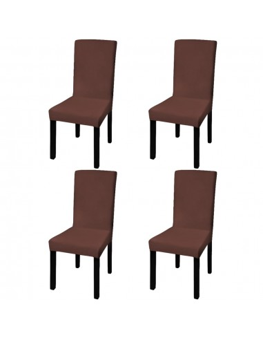 Tamprūs ir tiesūs užvalkalai kėdėms, 4 vnt., Rudos spalvos | Baldų Užvalkalai | duodu.lt