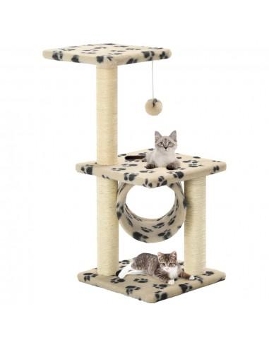 Draskyklė katėms su stovais iš sizalio, 65cm, smėlio sp. pėdut.   Draskyklės katėms   duodu.lt