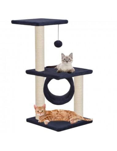 Kačių draskyklė su stovais iš sizalio, 65cm, tamsiai mėlyna   Draskyklės katėms   duodu.lt