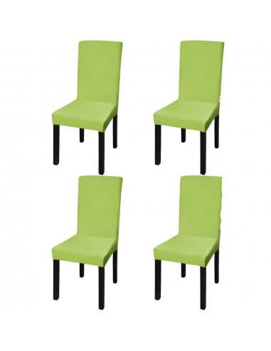 Tamprūs ir tiesūs užvalkalai kėdėms, 4 vnt., Žalios spalvos   Baldų Užvalkalai   duodu.lt