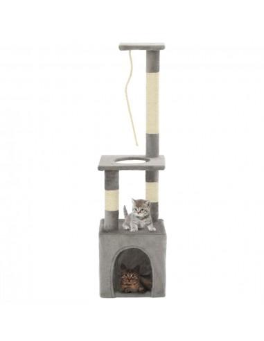 Draskyklė katėms su stovais iš sizalio, 109cm, pilka | Draskyklės katėms | duodu.lt