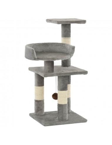 Draskyklė katėms su stovais iš sizalio, 65cm, pilkos spalvos   Draskyklės katėms   duodu.lt