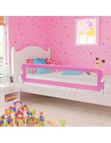 Apsauginis turėklas vaiko lovai, rož. sp., 180x42cm, poliest. | Apsauginiai turėklai kūdikiams | duodu.lt