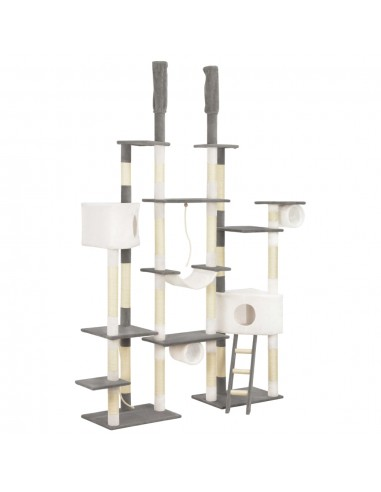 Draskyklė katėms su stovais iš sizalio, pilka, 234 cm | Draskyklės katėms | duodu.lt