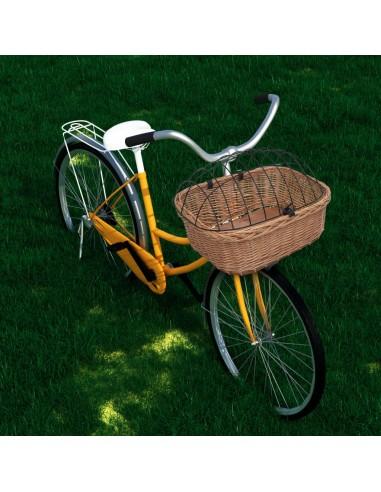 Priekinis dviračio krepšys su dangčiu, 50x45x35cm, gluosnis | Dviračių krepšiai | duodu.lt