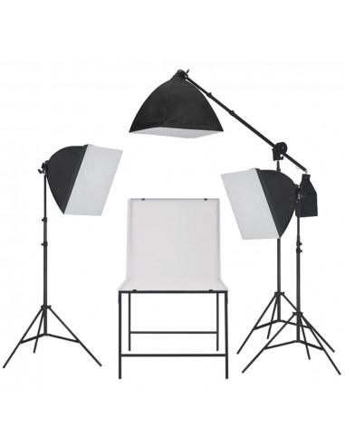 Fotostudijos šviesdėžių rinkinys su fotografavimo stalu | Studijinės Lempos ir Blykstės | duodu.lt