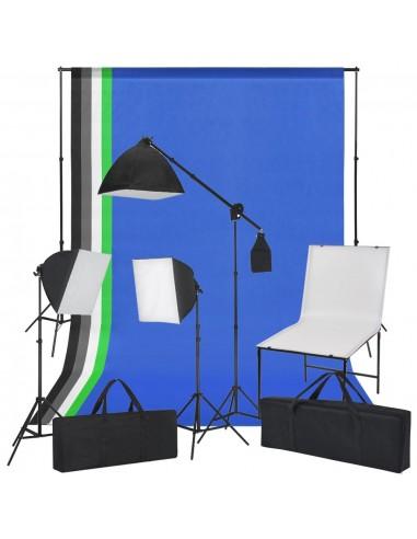 Fotostudijos kompl. su fot. stalu, lempomis ir fonu   Studijinės Lempos ir Blykstės   duodu.lt
