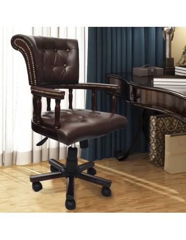Česterfildo Kapitono Sukamoji Biuro Kėdė, Ruda   Ofiso Kėdės   duodu.lt