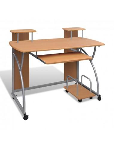 Mobilus Kompiuterio Stalas su Ištraukiamu Padėklu Klaviatūrai, Rudas | Rašomieji Stalai | duodu.lt
