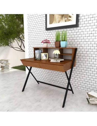 Darbo, kompiuterio stalas su 2 stalčiais, rudas  | Rašomieji Stalai | duodu.lt