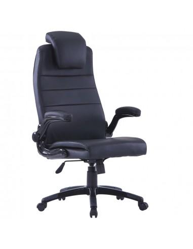 Juoda Dirbtinės Odos Biuro Kėdė, Sukamoji, Reguliuojama   Ofiso Kėdės   duodu.lt