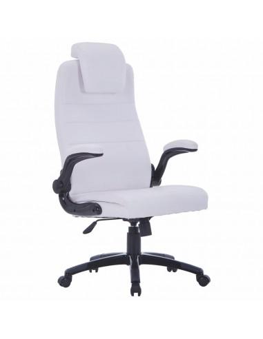 Balta Dirbtinės Odos Biuro Kėdė, Reguliuojama, Sukamoji | Ofiso Kėdės | duodu.lt
