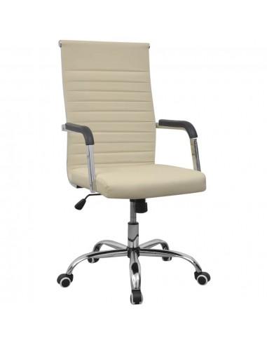 Biuro Kėdė, Dirbtinė Oda, 55 x 63 cm, Kreminės Spalvos | Ofiso Kėdės | duodu.lt