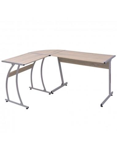 Kampinis rašomasis stalas, L formos, ąžuolas | Rašomieji Stalai | duodu.lt