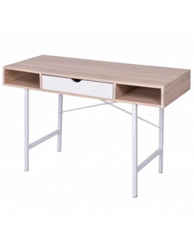 Stalas su 1 stalčiumi, ąžuolo ir baltas | Rašomieji Stalai | duodu.lt