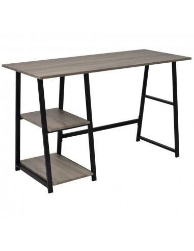 Rašomasis stalas su 2 lentynomis, pilka ir ąžuolo   Rašomieji Stalai   duodu.lt