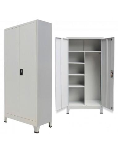 Persirengimo spintelė, 2 durų, plieninė, 90x40x180 cm, pilka   Dokumentų spintos   duodu.lt