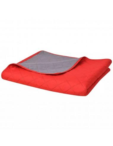 Dvipusė dygsniuota lovatiesė, raudona ir pilka, 230x260 cm   Dygsniuotos ir pūkinės antklodės   duodu.lt