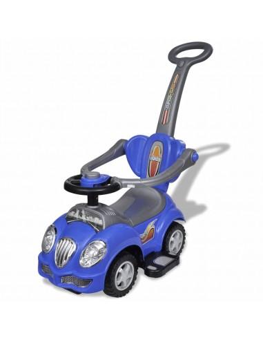 Mėlynas vaikiškas automobilis su stūmimo rankena  | Stumiamos ir Pedalais Minamos Transporto Priemonės | duodu.lt