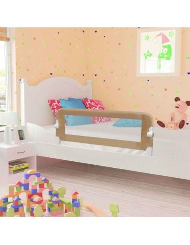 Apsauginis turėklas vaiko lovai, taupe sp., 120x42cm, poliest. | Apsauginiai turėklai kūdikiams | duodu.lt