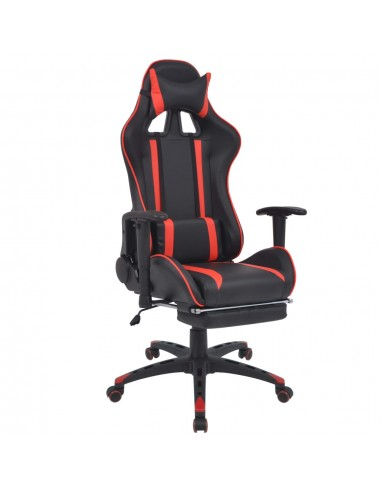 Atlošiama biuro/žaidimų kėdė su atrama kojoms, raudona | Ofiso Kėdės | duodu.lt