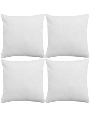 Pagalvėlių užvalkalai, 4 vnt., lino imitacija, balti, 40 x 40 cm   Dekoratyvinės pagalvėlės   duodu.lt