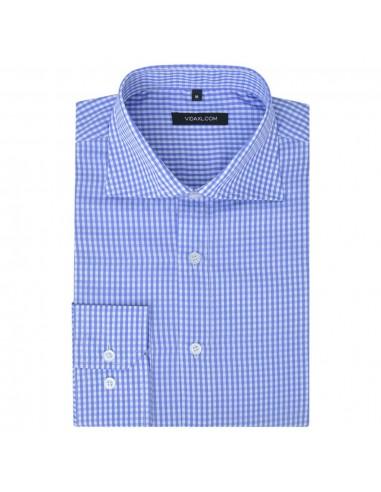 Vyriški kostiumo marškiniai, dydis S, balti/žydri langeliai | Marškiniai ir Palaidinės | duodu.lt