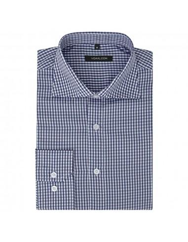 Vyriški kostiumo marškiniai, dydis S, balti/mėlyni langeliai | Marškiniai ir Palaidinės | duodu.lt