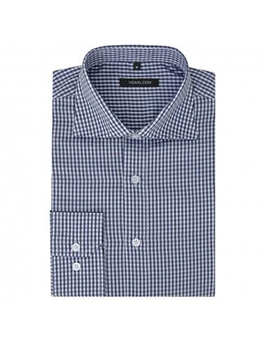 Vyriški kostiumo marškiniai, dydis XL, balti/mėlyni langeliai   Marškiniai ir Palaidinės   duodu.lt