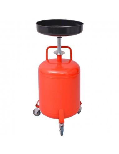 Panaudotos alyvos surinkimo talpa, 49,5 l, plieninis, raudona | Tepalų Filtrai | duodu.lt