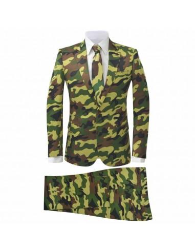 Vyriškas dviejų dalių kostiumas, kamufliažo sp., dydis 52 | Kostiumai | duodu.lt