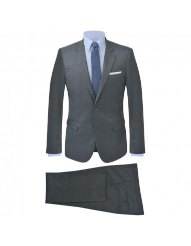 Vyriškas 2 dalių languotas kostiumas, antracito spalvos, 46   Kostiumai   duodu.lt