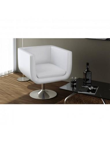 Baro kėdė, dirbtinė oda, balta   Foteliai, reglaineriai ir išlankstomi krėslai   duodu.lt