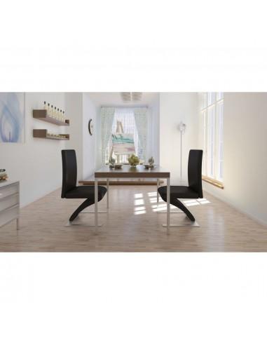 Valgomojo kėdės, 2 vnt., zigzago formos, juodos    Virtuvės ir Valgomojo Kėdės   duodu.lt