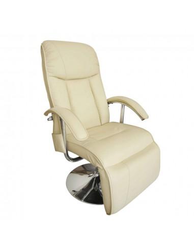 Masažinis krėslas, elektrinis, dirbtinė oda, kreminės baltos sp.    Elektrinės Masažo Kėdės   duodu.lt