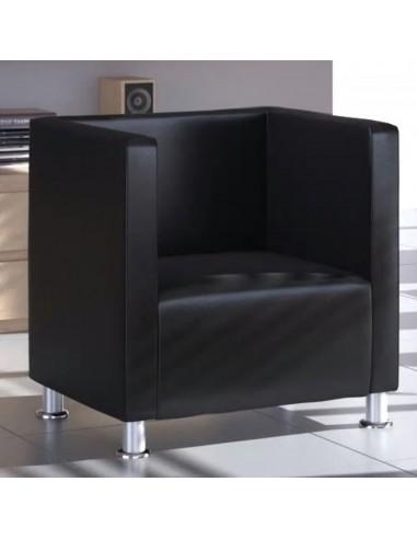 Krėslas, kubo formos dizainas, dirbtinė oda, juodas   Foteliai, reglaineriai ir išlankstomi krėslai   duodu.lt