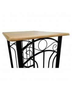 Kavos staliukų kompl., 2d., perdirbta med., juodas, apvalus | Kavos Staliukai | duodu.lt